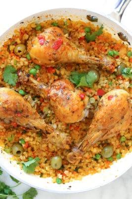 Cauliflower arroz con Pollo